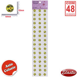 Auto Colante Acrílico Emotions Smile Joinha - Cartela Com 48und