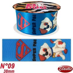 Fita De Cetim D Dog N 09 Super Pai Dog Royal
