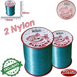 Kit Rolo de Nylon Piranha - 0,30mm 250g